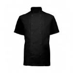 Black Short Sleeve Chefs Jacket (XS - 3XL)
